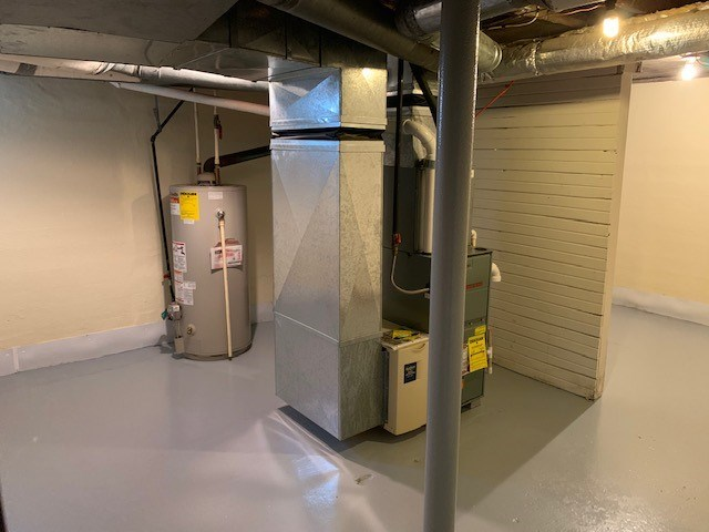 Furance and Hot water heater in basement